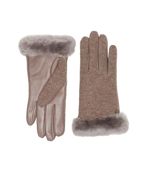 Accesorii Femei UGG Shorty Smart Fabric Gloves w Short Pile Trim Stormy Grey Multi