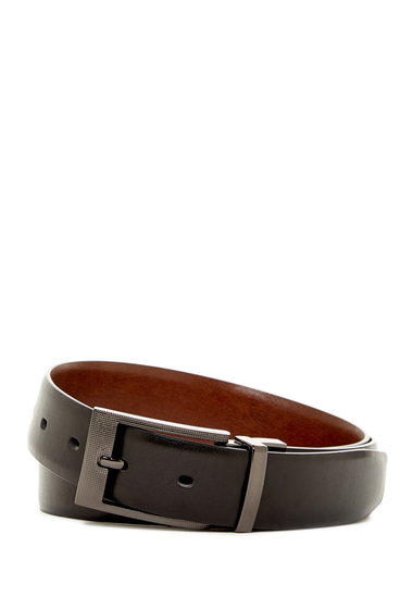 Accesorii Barbati Original Penguin Reversible Zeus Leather Belt BLK20