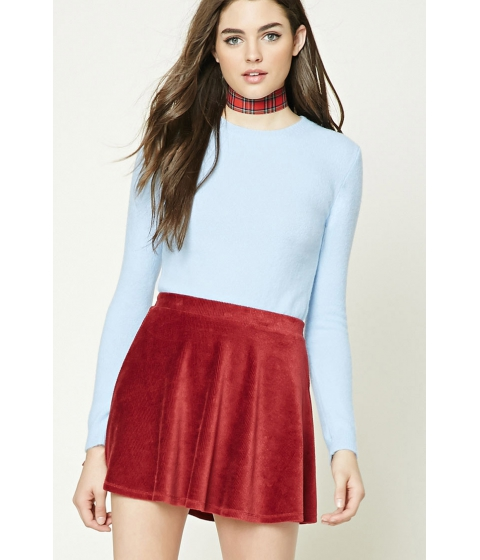 Imbracaminte Femei Forever21 Longline Fleece Sweater Light blue