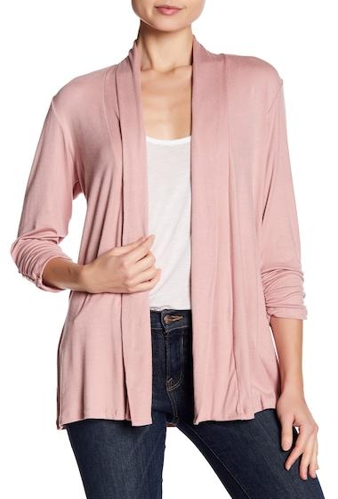 Imbracaminte Femei Bobeau Shawl Collar 34 Length Sleeve Cardigan ANTIQUE MAUVE