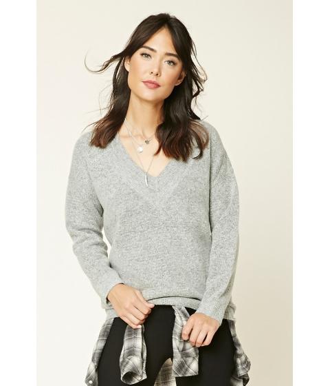 Imbracaminte Femei Forever21 Marled V-Neck Sweater Heather grey