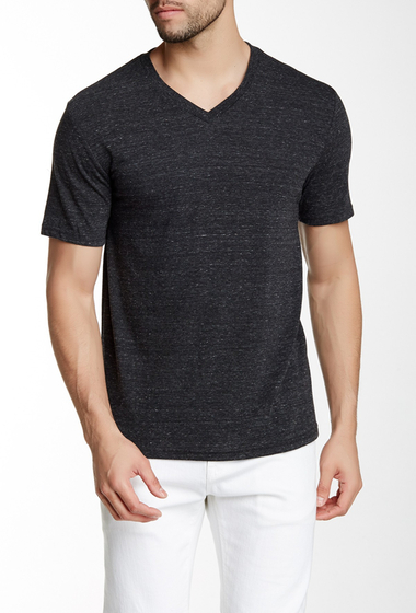 Imbracaminte Barbati Public Opinion Short Sleeve V-Neck Tee CHARCOAL HTHR