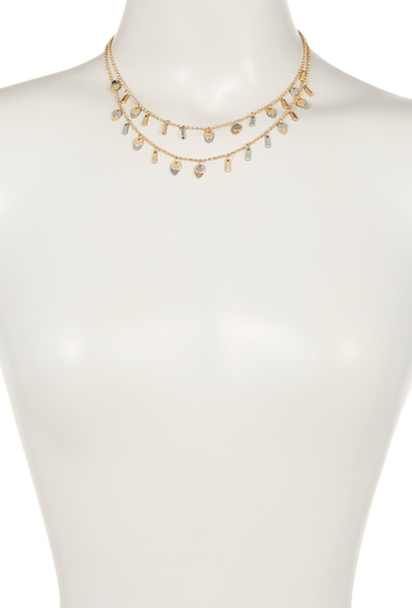 Accesorii Femei Melrose and Market Layered Disc Charm Necklace GOLD-RHODIUM