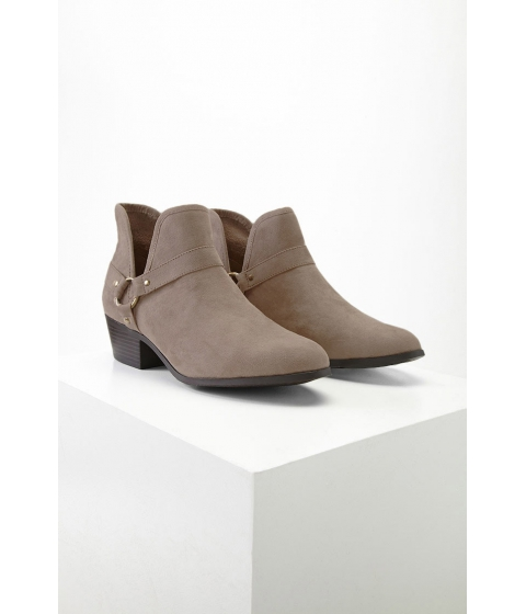 Incaltaminte Femei Forever21 Ring Detail Faux Suede Boots Taupe