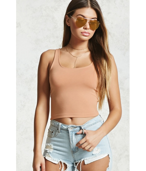 Imbracaminte Femei Forever21 Cropped Tank Top Apricot