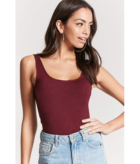 Imbracaminte Femei Forever21 Cropped Tank Top BURGUNDY