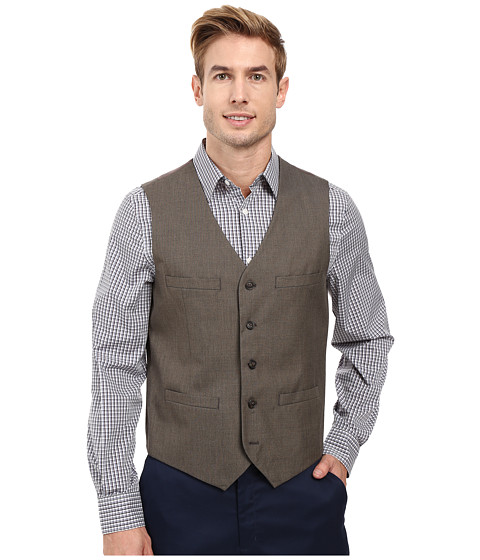 Imbracaminte Barbati Perry Ellis Regular Fit Pattern Twill Suit Vest Chinchilla
