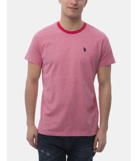 Imbracaminte Barbati US Polo Assn END ON END CREW NECK TEE NANTUCKET RED HEATHER