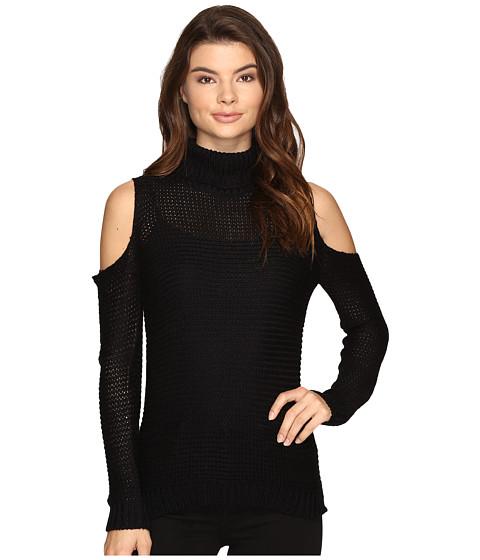 Imbracaminte Femei Brigitte Bailey Caressa Ribbed Cold Shoulder Sweater Black