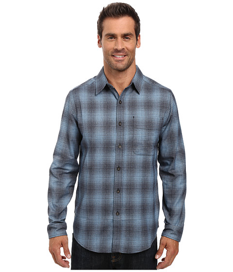 Imbracaminte Barbati Royal Robbins Performance Flannel Ombre Long Sleeve Shirt Blue Stone