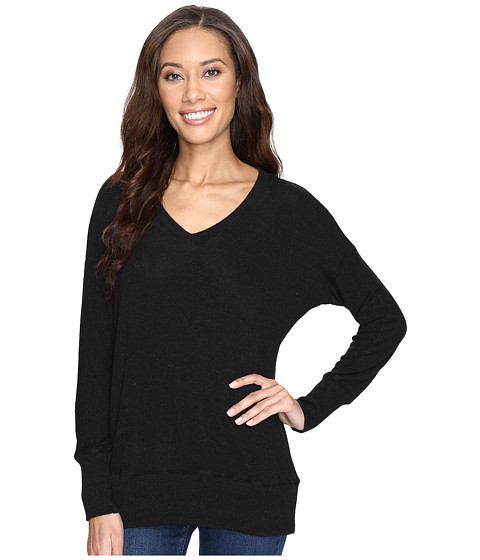 Imbracaminte Femei Allen Allen Long Sleeve Sweater Vee Black