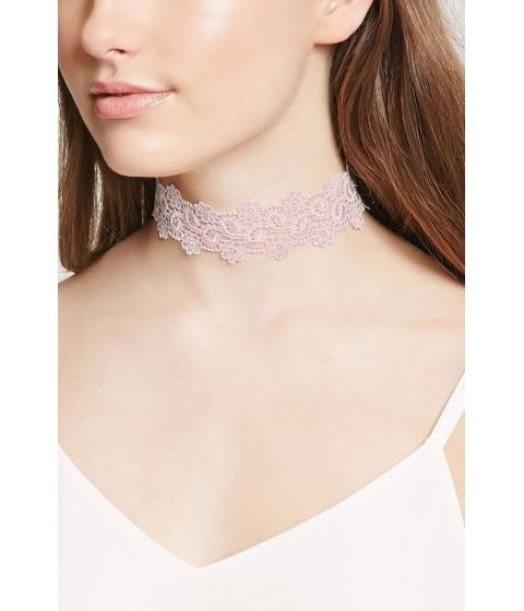 Bijuterii Femei Forever21 Floral Lace Choker Light pink