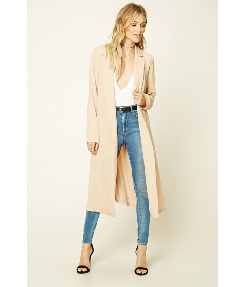 Imbracaminte Femei Forever21 Contemporary Belted Jacket Tan