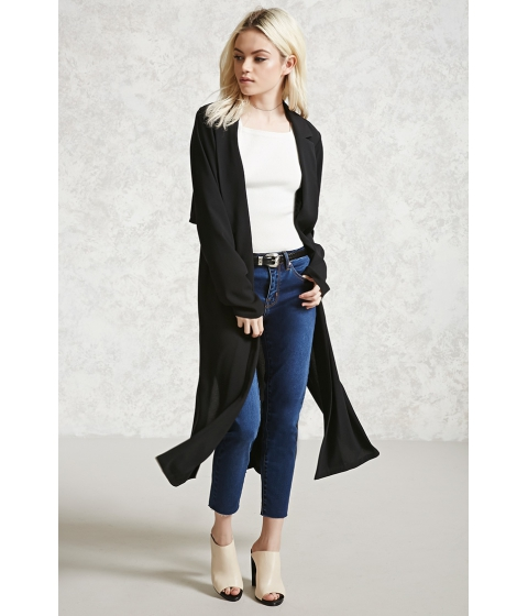 Imbracaminte Femei Forever21 Contemporary Belted Jacket Black