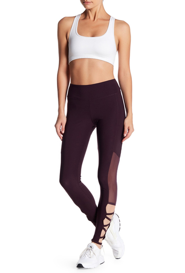 Imbracaminte Femei Bally Total Fitness Cross Band Ankle Sheer Inset Leggings 9A4 BLACKBERRY