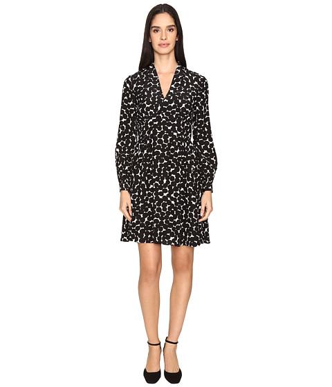 Imbracaminte Femei Kate Spade New York Blot Dot V-Neck Dress French CreamBlack