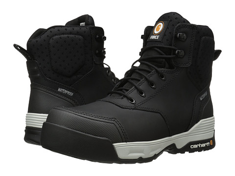 Incaltaminte Barbati Carhartt 6 Inch Force Black Waterproof Work Boot Black Coated Leather