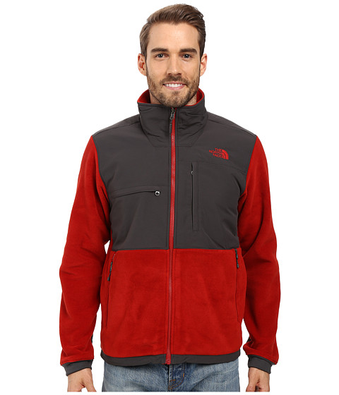 Imbracaminte Barbati The North Face Denali 2 Jacket Recycled Cardinal RedAsphalt Grey (Prior Season)