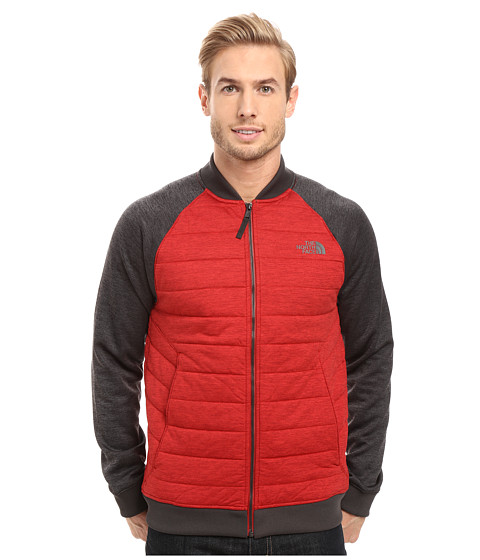 Imbracaminte Barbati The North Face Norris Point Insulated Full Zip Cardinal Red HeatherTNF Dark Grey Heather (Prior Season)