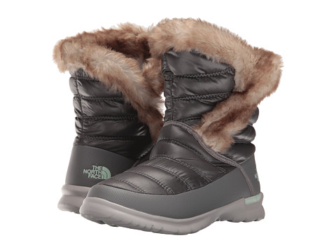 Incaltaminte Femei The North Face ThermoBall Microbaffle Bootie II Shiny Smoked Pearl GreySubtle Green (Prior Season)