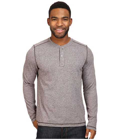 Imbracaminte Barbati The North Face Long Sleeve Copperwood Henley Bittersweet Brown Heather (Prior Season)