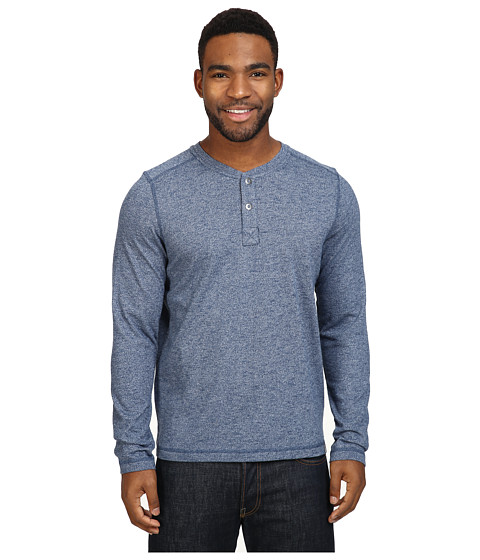 Imbracaminte Barbati The North Face Long Sleeve Copperwood Henley Shady Blue Heather (Prior Season)