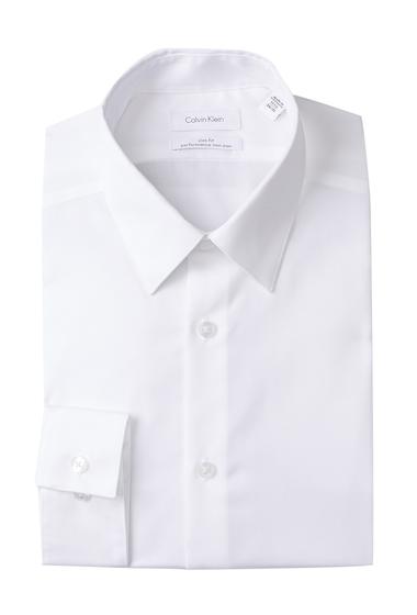 Imbracaminte Barbati Calvin Klein Oxford Trim Fit Dress Shirt WHITE
