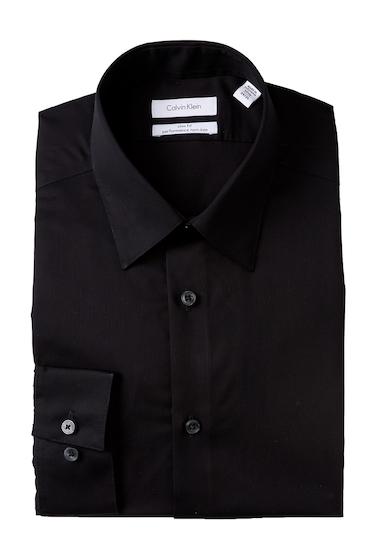 Imbracaminte Barbati Calvin Klein Oxford Trim Fit Dress Shirt BLACK
