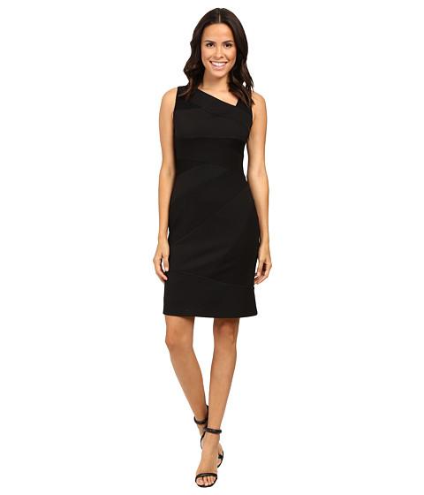 Imbracaminte Femei Adrianna Papell Sleeveless Bodycon Lace Blocked Dress Black 1