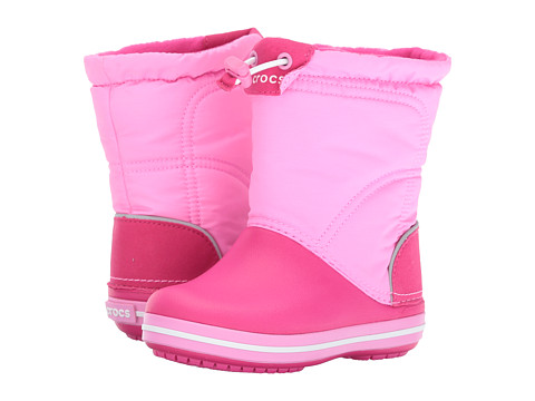 Incaltaminte Fete Crocs Crocband Lodge Point Boot (ToddlerLittle Kid) Candy PinkParty Pink