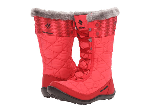 Incaltaminte Fete Columbia Minx Mid II Waterproof Omni-Heat (Little KidBig Kid) Red CamelliaBlack