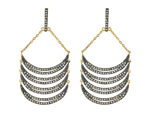 Bijuterii Femei Cole Haan Curve Chandelier Earrings GunmetalCrystal