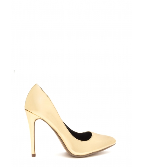 Incaltaminte Femei CheapChic That's A Great Point Metallic Pumps Gold