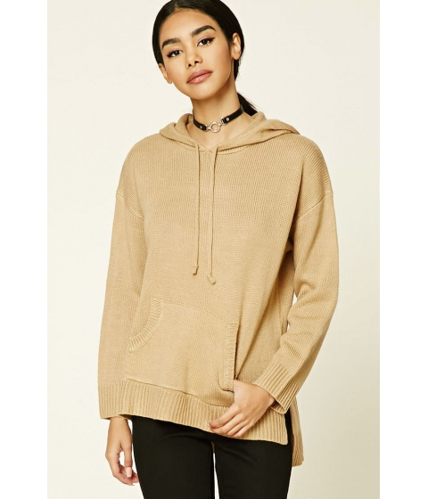 Imbracaminte Femei Forever21 Hooded Ribbed Knit Sweater CAMEL