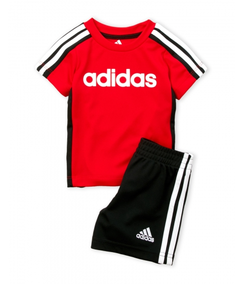 Imbracaminte Baieti adidas (NewbornInfant Boys) Two-Piece Tee Shorts Set Scarlet