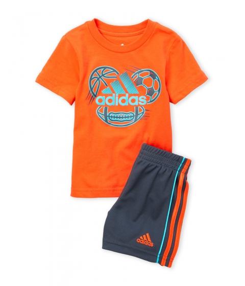 Imbracaminte Baieti adidas (Infant Boys) Two-Piece Tee Shorts Set Energy