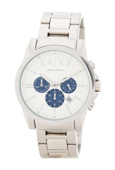 Ceasuri Barbati Armani Exchange Mens Outerbanks Chronograph Bracelet Watch STAINLESS