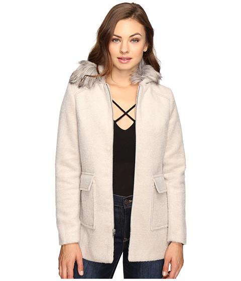 Imbracaminte Femei Brigitte Bailey Orla Zip-Up Coat with Faux Fur Beige