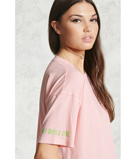 Imbracaminte Femei Forever21 Work Out Graphic Sleeve Top Light pinklime