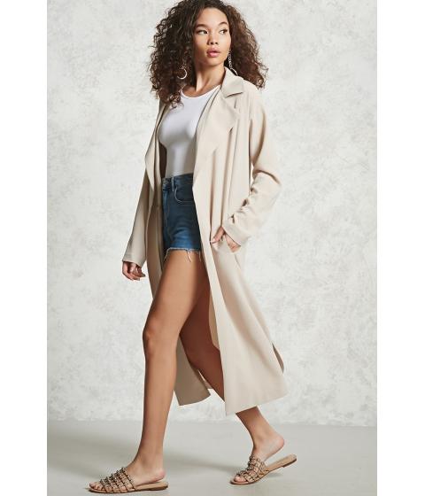 Imbracaminte Femei Forever21 Longline Textured Jacket Beige