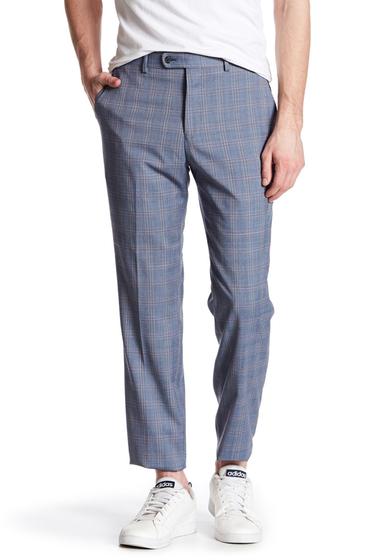 Imbracaminte Barbati Original Penguin Blue Plaid Flat Front Trouser - 30-34 Inseam MID BLUE PLAID