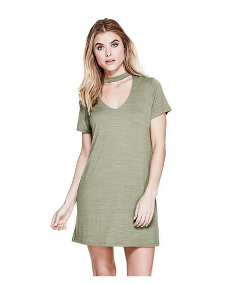 Imbracaminte Femei GUESS Chrissa Choker Dress sand dollar
