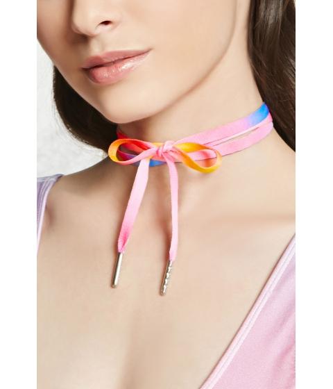 Bijuterii Femei Forever21 Ombre Shoelace Wrap Choker Pinkmulti