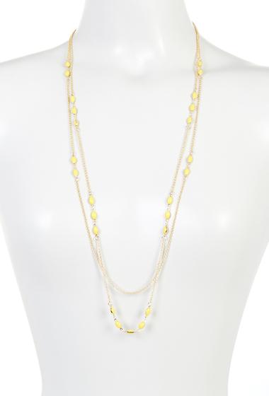 Bijuterii Femei Spring Street Yellow Beaded Layered Necklace YELLOW
