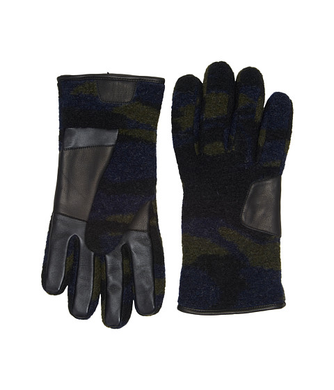 Accesorii Barbati UGG Fabric Smart Gloves w Leather Trim Camo