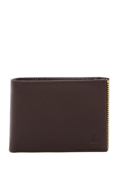 Accesorii Barbati Original Penguin Color Stitch Bi-Fold Wallet BRN