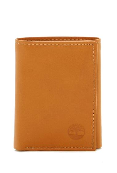 Accesorii Barbati Timberland Cloudy Logo Leather Trifold Wallet 02-TAN
