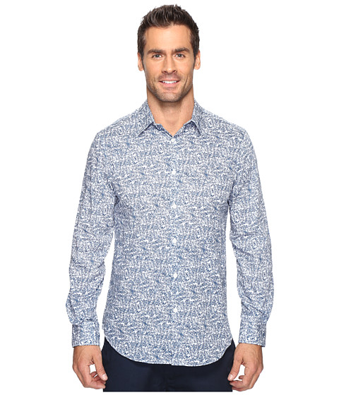 Imbracaminte Barbati Perry Ellis Linear Texture Print Shirt Faience