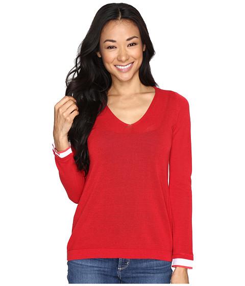 Imbracaminte Femei NYDJ Petite Twofer Sweater Red Ribbon