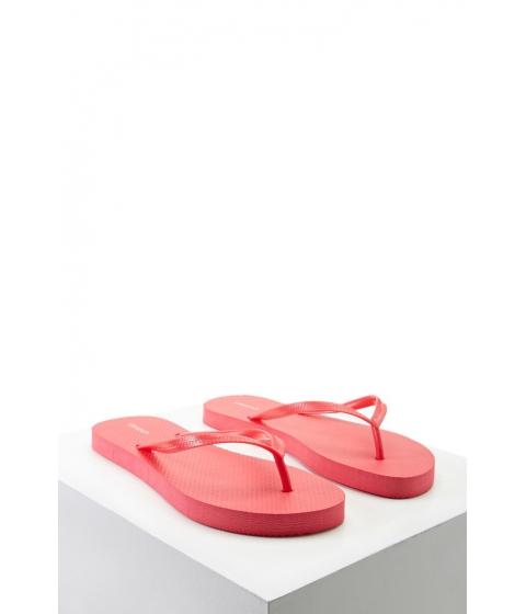 Incaltaminte Femei Forever21 Textured Flip Flops Red